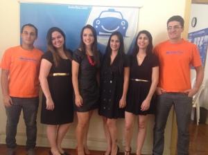 Equipe SaferTaxi com Talita Lombardi