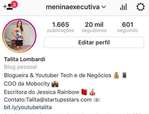 Menina Executiva Instagram